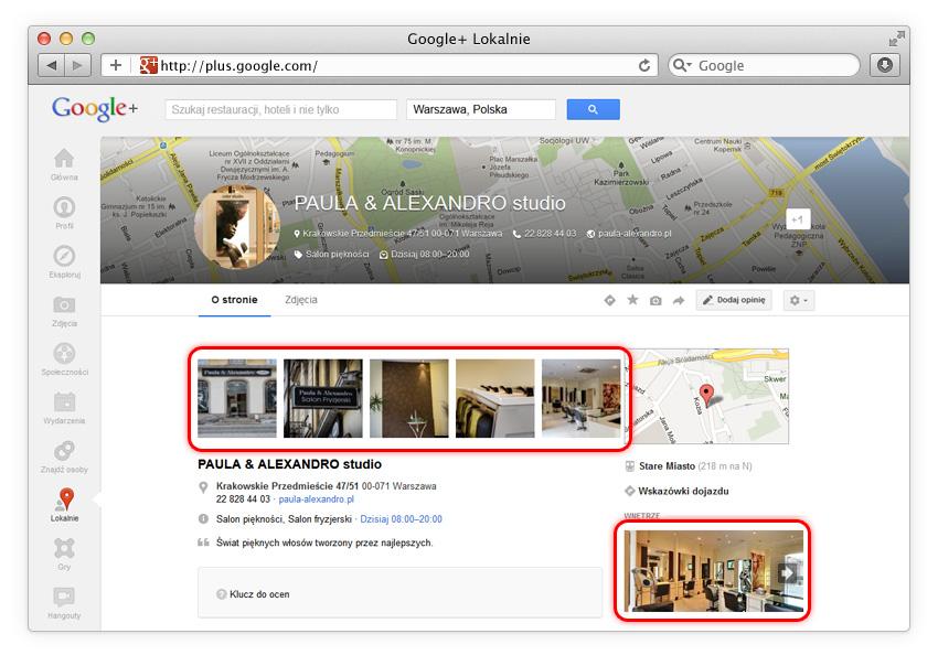 Google+ Lokalnie (Zdjęcia Firmowe Google)
