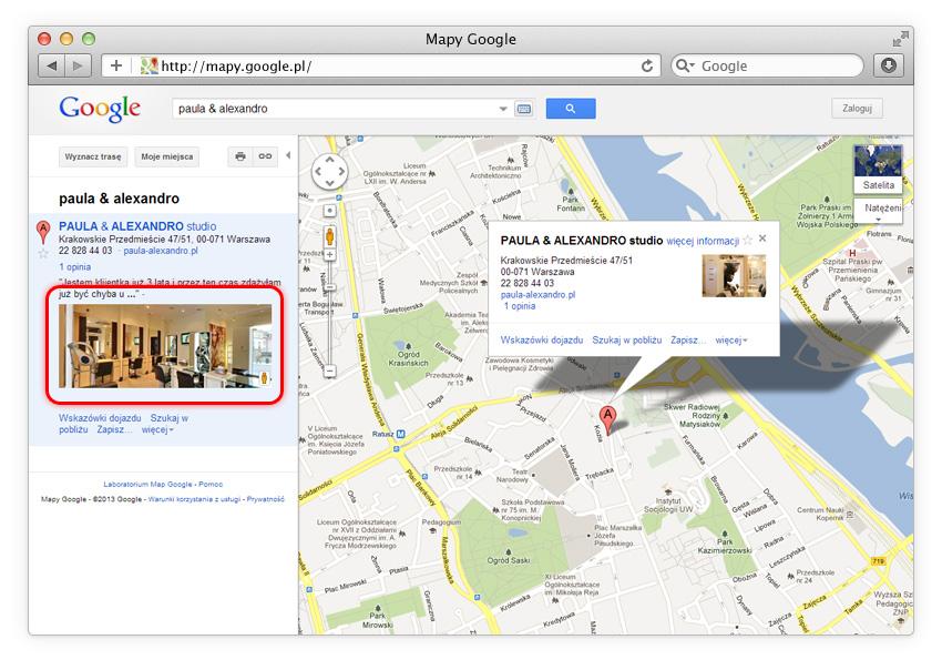 Mapy Google (Zdjęcia Firmowe Google)