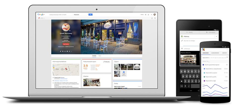 Google Moja Firma pozwala zarządzać Twoją stroną z dowolnego miejsca i urządzenia